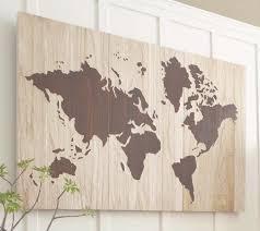 string art world map barn door wood wall decor by rambleandroost regarding string map wall