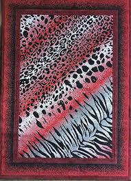 red animal print rug animal skin leopard tiger print rug redblack design 517 5 feet 3 red animal print rug