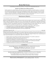 Cover Letter Efective Bank Sales Manager Resume Examples Objective