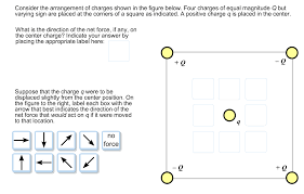Consider the arrangement of charges shown in the f