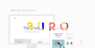 Portfolio Website Templates Delectable Buro Minimal Bootstrap Typography Portfolio Template By VanKarWai