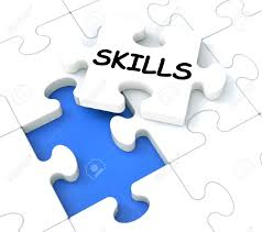 skills puzzle shows aptitudes  talents and abilities stock photo    stock photo   skills puzzle shows aptitudes  talents and abilities