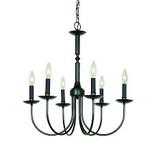 artcraft lighting wrought iron 22 5 in 6 light ebony black wrought iron candle chandelier