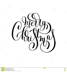 merry christmas black and white script. Contemporary White Merry Christmas Black And White Handwritten Lettering Inscription Holiday  Phrase Typography Banner With Brush Script Calligraphy Vector Illustration Intended Christmas Black And White Script M
