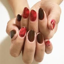 赤べっこう秋冬ネイル赤ネイル茶色ネイルべっこうネイル秋色ネイル