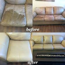 camel tan leather furniture restoration before and after chair dye kit testimonials