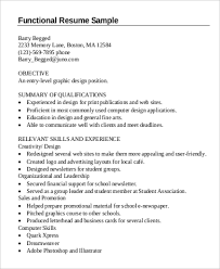 Example Of Functional Resumes 9 Functional Resume Examples Templates