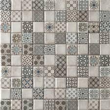 mosaic tile designs. Vintage Mosaic Tile Cream Patterns . Designs