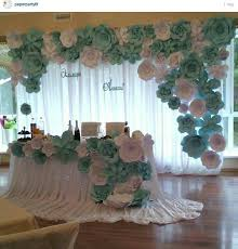 Paper Flower Wedding Backdrops Paper Flowers Backdrop Wedding Curtains Paper Flower