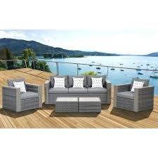 5 piece conversation patio set 5 piece wicker patio conversation set grey with grey cushions mainstays