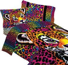 lisa frank bedding set wild side leopard print comforter and sheet set com