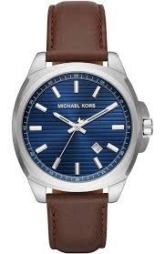 men s watch michael kors bryson brown leather strap mk8631 e oro gr michael kors watches