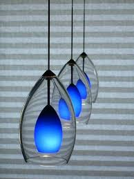 blue glass pendant light blue pendant light elegant blue pendant lamp design idea by hunter making