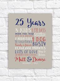 25th wedding anniversary gift paper canvas twenty fifth 10 year 20 year 2 year anniversary gift for men husband partner pas