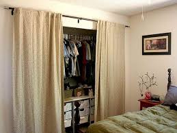 With Curtains For Doors Closets Fabulous Closet Photo Ideas Using