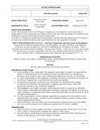 Job Description Examples For Resume Toreto Co Waitress Badak