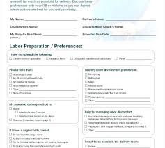 The Bump Birth Plan Baby Birth Plan Template Hypnobirthing Birth Plan Template