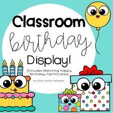 Happy Birthday Chart Decoration Birthday Display Charts Classroom Decor