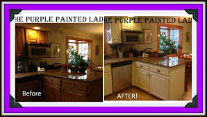 Painting Laminate Cabinets Do Your Kitchen Cabinets Look Tired The Purple Painted Lady