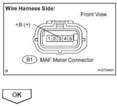 toyota rav4 service manual mass or volume air flow circuit reconnect the maf meter connector