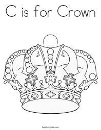 Small Picture C is for Crown Coloring Page Twisty Noodle