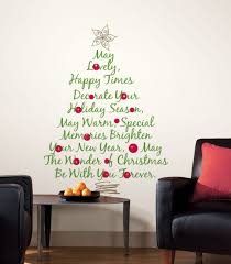living room green red vinyl quotes christmas tree wall decal