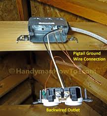 how to wire an attic electrical outlet and light attic electrical outlet ground wire connections