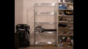 whitmor supreme 5 tier shelving chrome unboxing installation