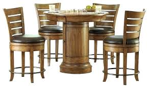 patio bistro bar table set elegant and chairs round pub piece