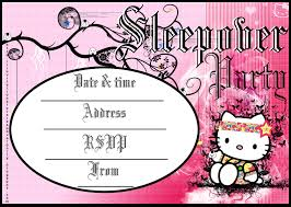hello kitty coloring pages invitations to sleepover party hello kitty
