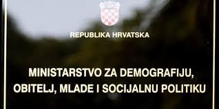 Slikovni rezultat za ministarstvo za demografiju obitelj mlade i socijalnu politiku logo