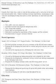 Brokerage Clerk Sample Resume 0 20 Templates Deli