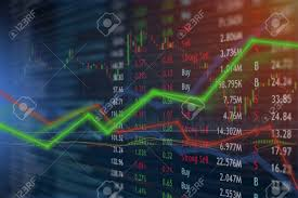 Profitable Candlestick Charting Llc Investing And Stock Market Concept Gain And Profits With Faded