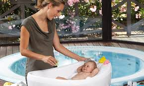 pas can now bathe their babies in the height of luxury with an extraordinary new mini whirlpool bath that costs 1 358 daily mail
