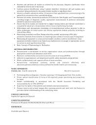 Gallery Of Ultrasound Technician Resume Examples
