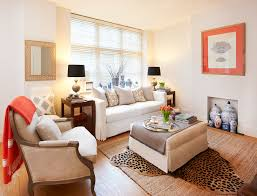 vase decorations for living room living room transitional with white couch leopard print rug blue and