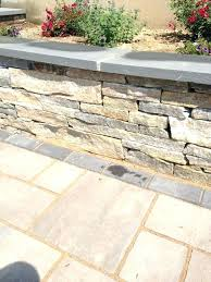 retaining wall caps wall cap stone close up of a natural stone retaining wall with cap