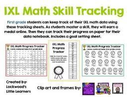 Ixl Progress Chart First Grade Ixl Math Tracking Ixl Math Math Teaching Math