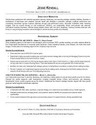 Awesome Resume Objectives For Marketing Managers Contemporary