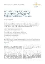 Neuro Embodied Design Pdf Embodied Language Learning And Cognitive Bootstrapping