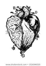 Half Heart Template Shutterstock Puzzlepix
