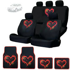 car seat car mats and seat covers new red heart design front rear floor