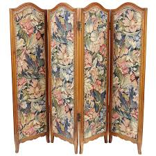 Folding Screen Small French Folding Screen With Floral Tapestry For Sale At 1stdibs