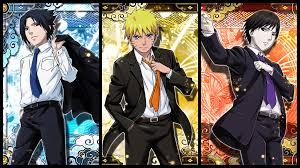 New Naruto, Sasuke and Sai tuxedo cards from Narucole game : Boruto