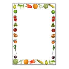 fruit and vegetables border. Simple Fruit Harvest Fruit U0026 Vegetables Page BorderWriting Frame No Lines In And Border T