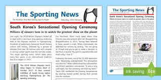 example of a newspaper article ks2 winter olympics 2018 wagoll example newspaper report