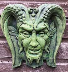 large pan green man decorative wall