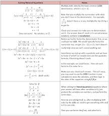 rational functions and equations
