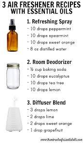 diy essential oil air freshener recipes
