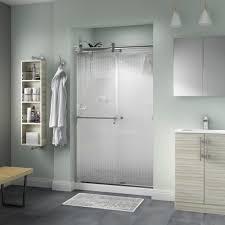 delta portman 48 in x 71 in semi frameless contemporary sliding shower door
